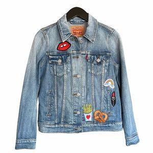 Levi's Denim Jean Jacket One-Of-A-Kind Embellished
